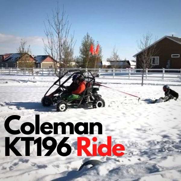 Coleman kt196 GO-Kart ride