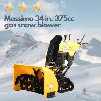 Massimo 34 gas snow blower.