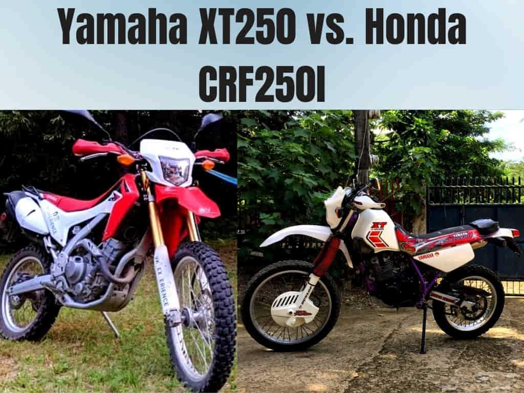 Yamaha XT250 vs. Honda CRF250l